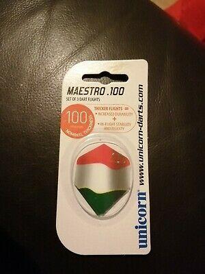 3 x SETS UNICORN Italian FLAG DART FLIGHTS - Standard Shape