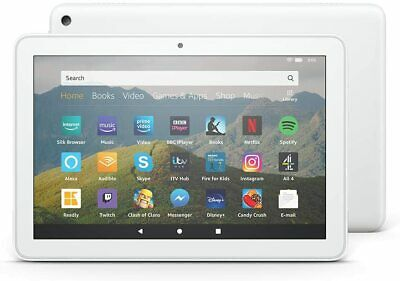 Fire 10 HD Amazon Kindle Tablet with Alexa 32 GB White UK