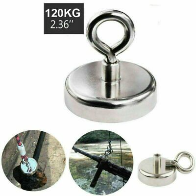 120Kg Recovery Salvage Strong Magnet Neodymium Hook Treasure