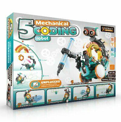 5 in 1 MECHANICAL CODING ROBOT Science DIY Kit STEM