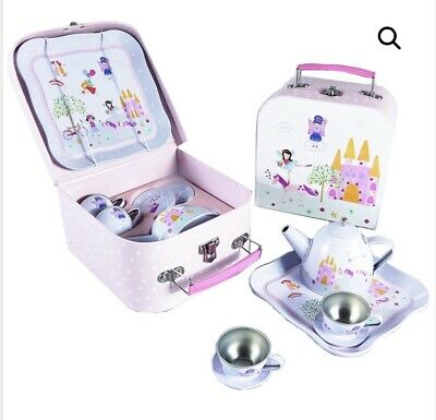 Floss &Rock Fairy Unicorn 7 Piece Tea Set Picnic Box