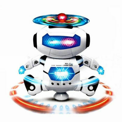 LED Light Electric Dancing Music Space Walking Robot Toy For