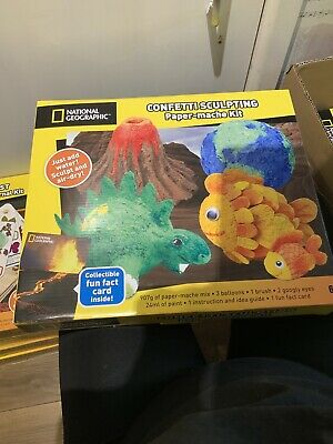 National Geographic Confetti Sculpting Paper-Mache Kit New