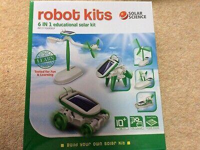 Solar Science Robot Kits 6 In 1 Educational Solar Kit -