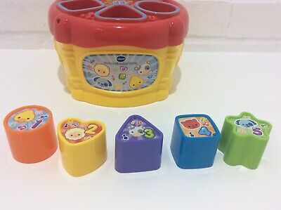 VTECH, SORT AND DISCOVER DRUM. COMPLETE, WORKING