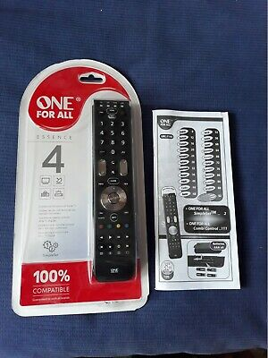 One For All URC Universal Remote Control - Black