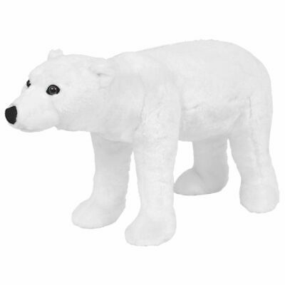 vidaXL Standing Plush Toy Polar Bear White XXL Kids Riding