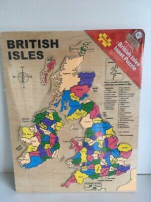 BIG JIG: British Isles - 28 Piece Wooden Inset Jigsaw Puzzle