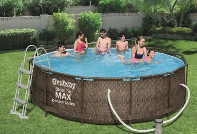 Bestway  Steel Pro Deluxe 12 Feet Pool with Filter