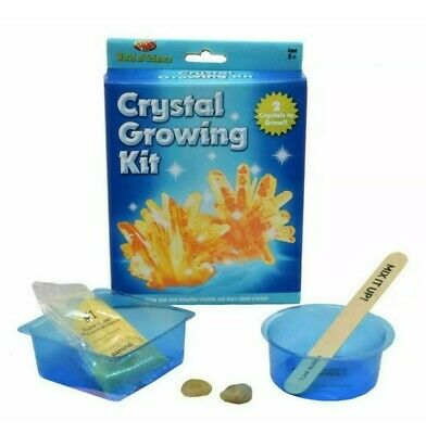 CRYSTAL GROWING KIT WORLD OF SCIENCE KIDS CHILDRENS