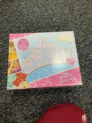 Disney Princess Sequin Art Tiara Set New Kids Craft Activity