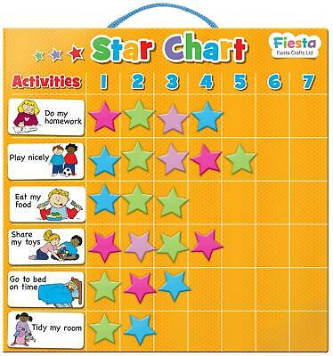 Fiesta Crafts MAGNETIC STAR CHART Educational Childrens Toy