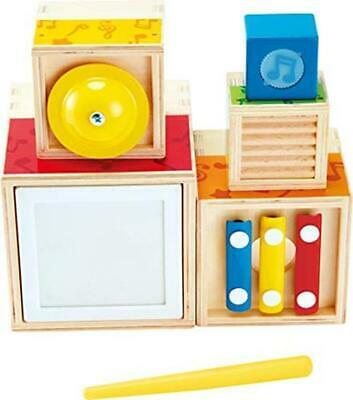 Hape E Wooden Musical Instrument Stacking Set