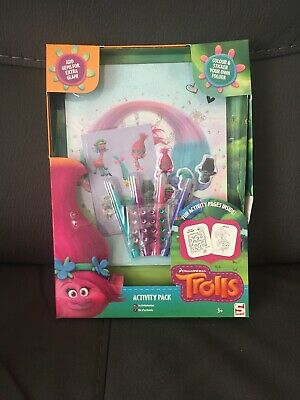 Trolls Activity Pack Fun Colour and Sticker + Gems AGE 3+