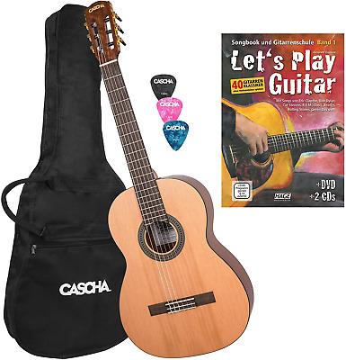 CASCHA 4/4 Classical Guitar Starter Set with Instruction