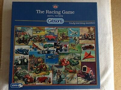 Gibsons The Racing Game  piece jigsaw puzzle used