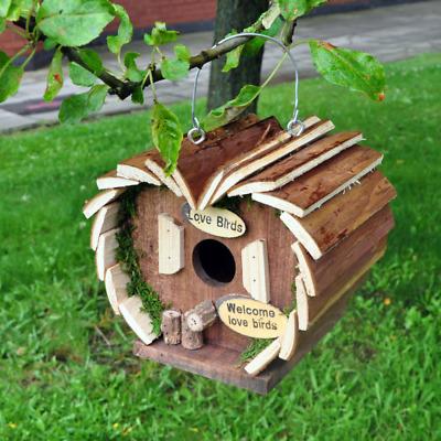 Hanging Wooden Wild Garden Bird Hotel House Nesting Home