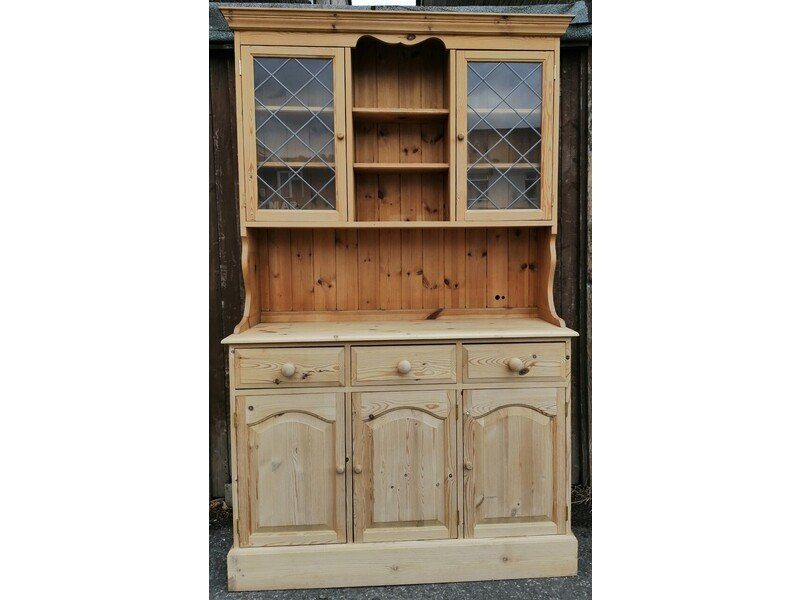 Pine Dresser with Part Glazed Top