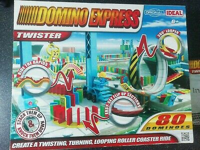DOMINO EXPRESS TWISTER CREATE A LOOPING ROLLER COASTER RIDE