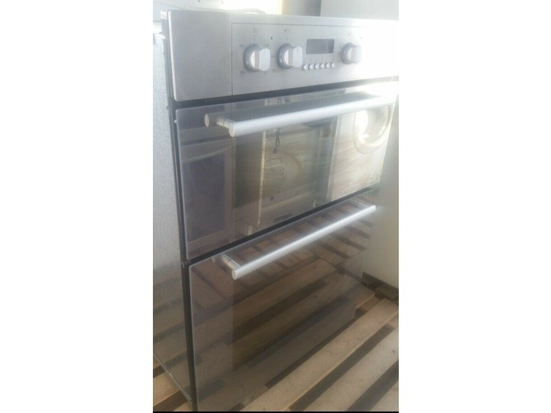 Hotpoint Electric Silver Built In Double Oven