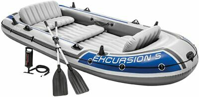 Intex Excursion 5 Set Inflatable Boat With Oars and Pump -