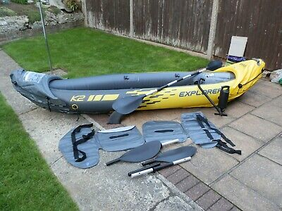 Intex Explorer K2 Kayak 2 Person Inflatable Canoe Boat with