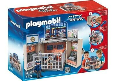 Playmobil  My Take Along Police Station With Cell And
