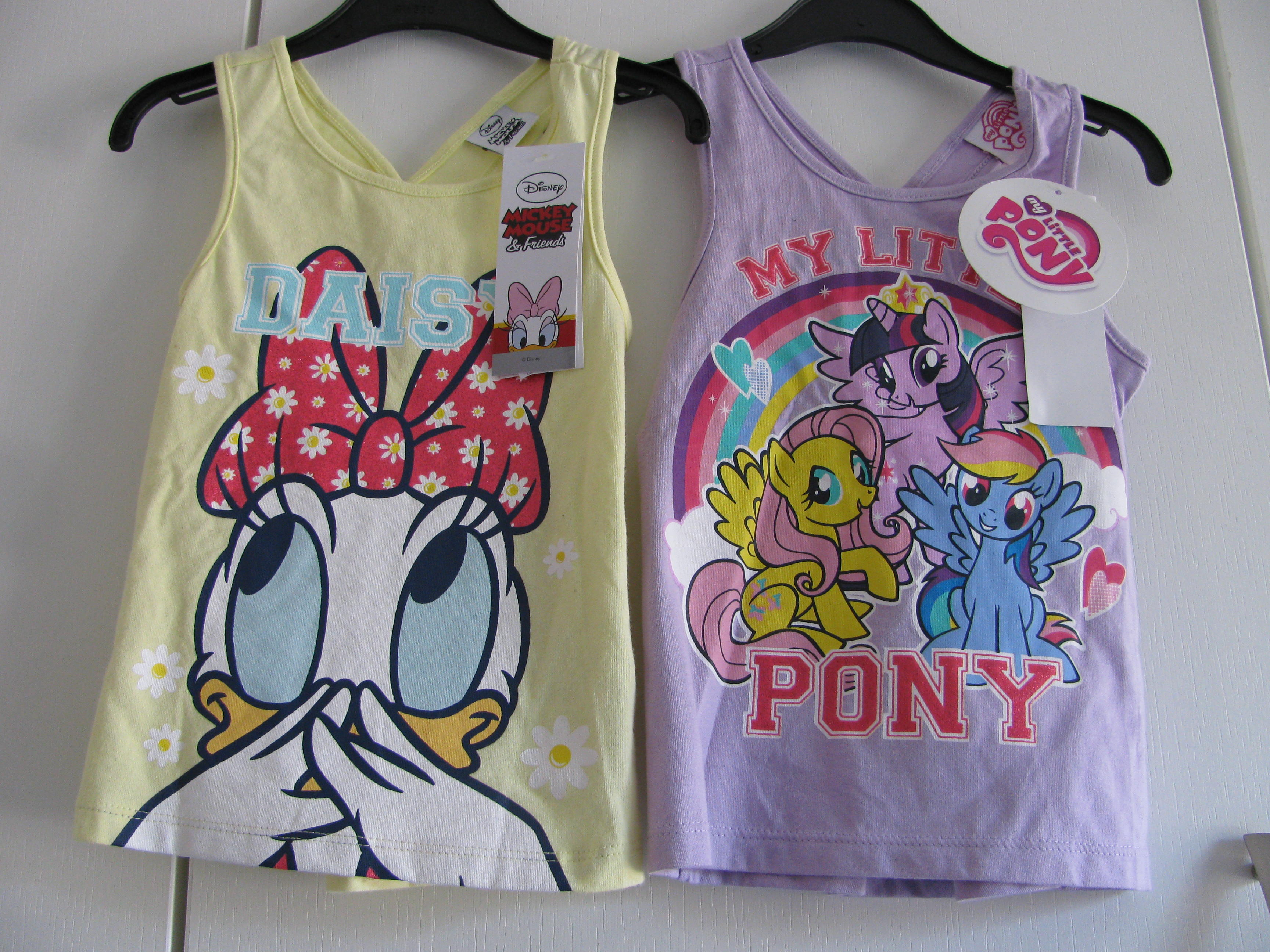 2 x Daisy + My Little Pony T shirts mths New with Tags