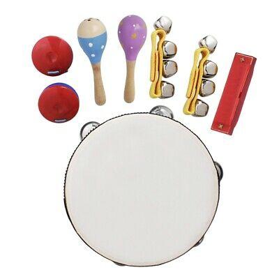 8Pcs/Set Musical Toys Orff Instruments Sets Band Rhythm Kit
