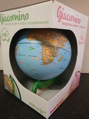 Kids Childrens Animal Political Border World Globe & Base