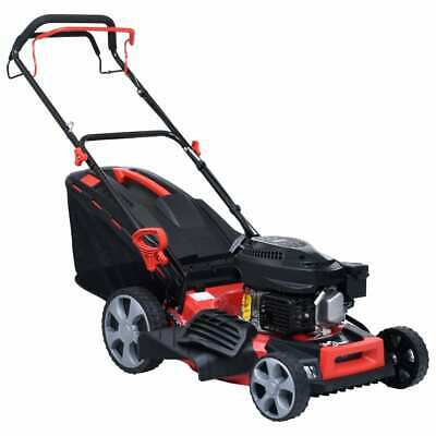 vidaXL 4-in-1 Petrol Lawn Mower Steel 3.4HP Electric Grass
