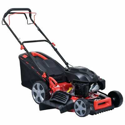 vidaXL 4-in-1 Petrol Lawn Mower Steel 4.6HP Electric Grass