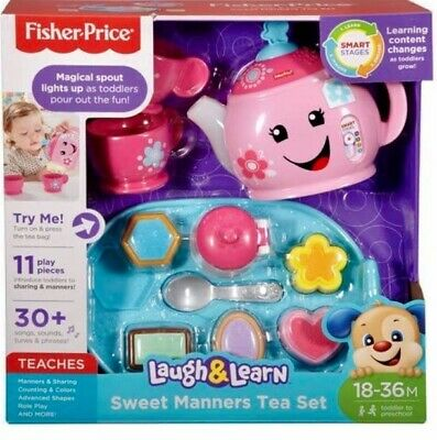 FISHER PRICE LAUGH AND LEARN SWEET MANNERS TEA SET PRETEND