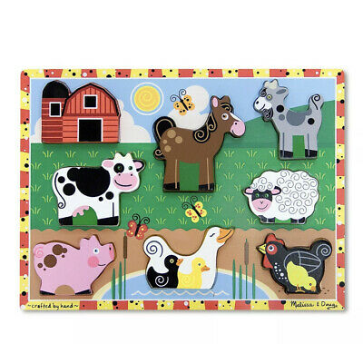Melissa and Doug Farm Chunky Puzzle - 8 Pieces - (Damaged