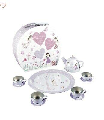 Floss & Rock 11Piece Tin Tea Set in Case Fairy Blossom