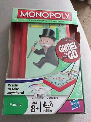 Miniature Monopoly - Games To Go - Travel Edition Board Game