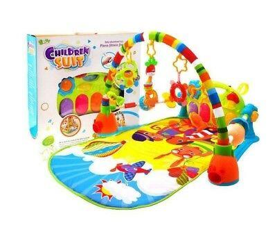 Musical Piano Play Baby Animal Educational Soft Kick Toy
