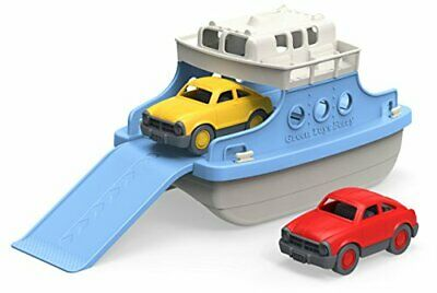 Green Toys Ferry Boat with Two Toy Cars - Bath and Water