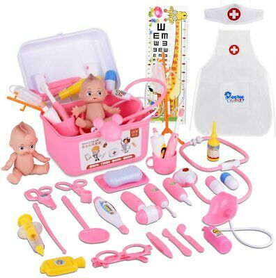 31PCS Pretend Doctor Kit Medical Toys Nurse Playset with