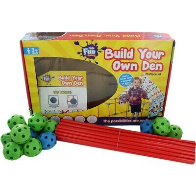 Build Your Own Den TheWorks-75 Piece Kit Indoor/Outdoor Toy