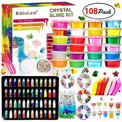 Fluffy Slime Kit Crystal Slime Set for Girls and Boys Toys