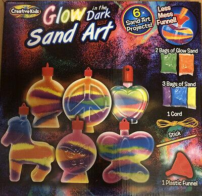 Glow in the Dark Sand Art Kit - 6 Sand Art Projects - BRAND