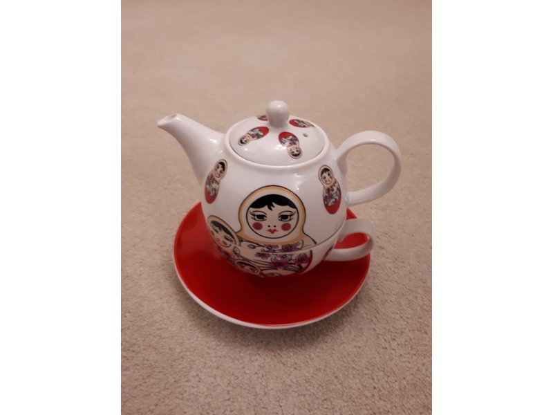 Novelty teapot in gift box