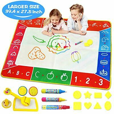 Water Doodle Mat, Larger(39.4 X 27.5 inch) Multicolored No