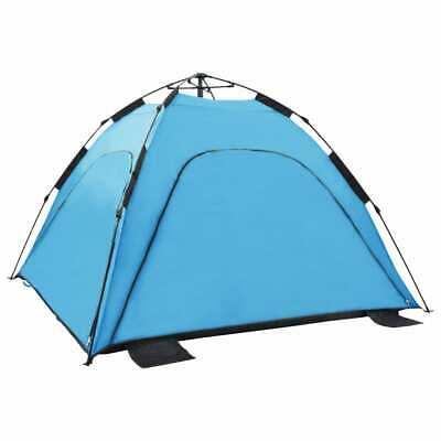 vidaXL Pop Up Beach Tent Blue Outdoor Car Camping Hiking