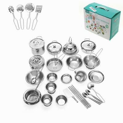 ENPEI 40PCS Mini Kitchenware Play Set Kitchen Pan Pot Dish