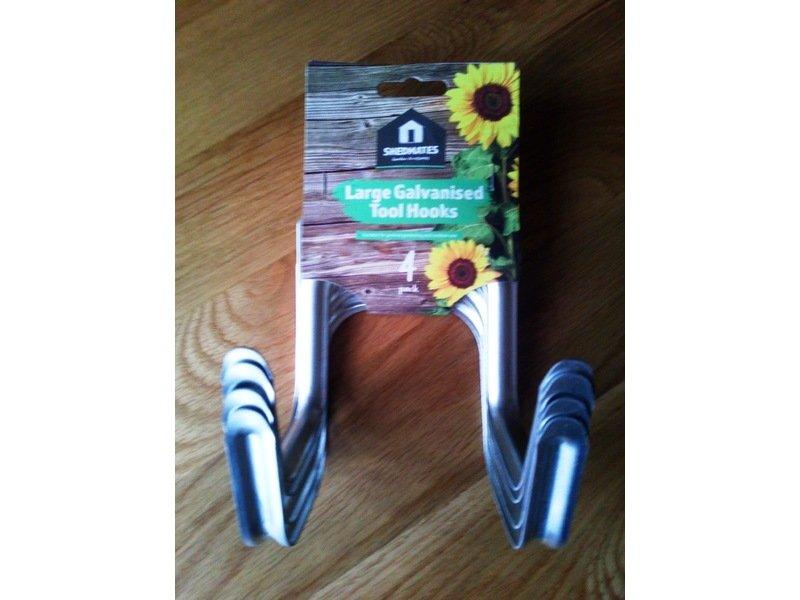 4 x Large Galvanised Tool Hooks for sale £ 5 - nice bargain