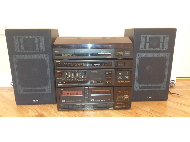 Fully working Akai stacking music system from