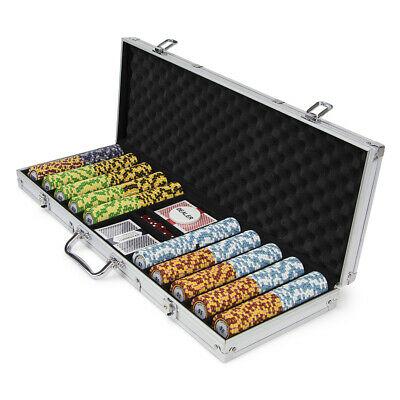 Pre-Pack - 500 Ct Monte Carlo Chip Set Aluminum Case