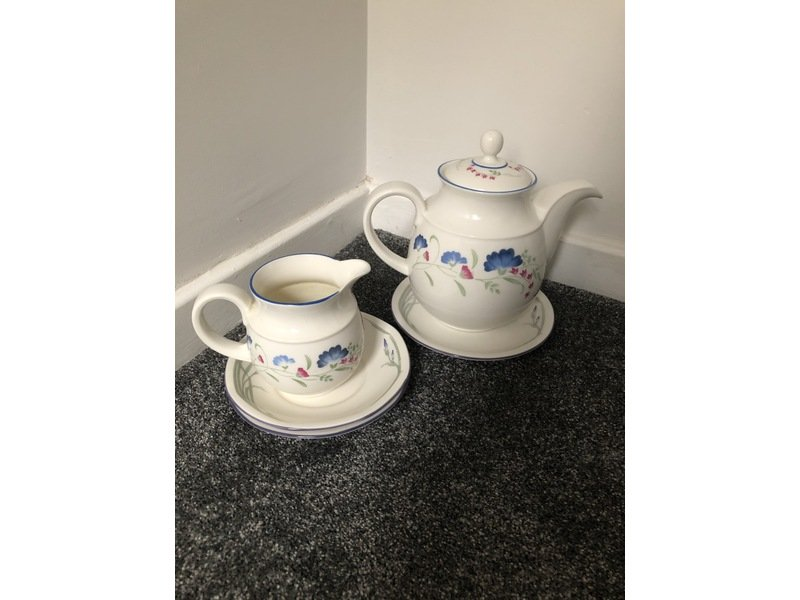 Royal Doulton China Tea Pot and milk jug